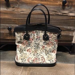 Vintage Tapestry Overnight Bag